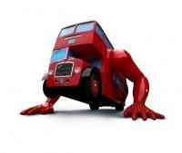 Realizace klikujícího autobusu – LONDON BOOSTER pro LOH 2012