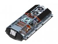 Rozmístění komponentů uvnitř klimatizační jednotky